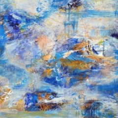 Jackie Sherwood Painting Abstracts Champagne Tastes