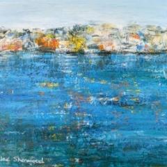 Jackie Sherwood Painting Greece Snapshot of Koroni
