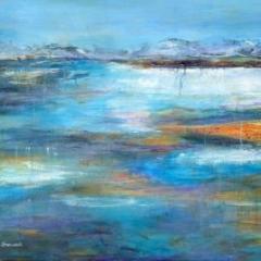 Jackie Sherwood Painting Greece Morning Calm Koroni